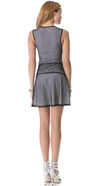 Ohne Titel Mesh Netting Flounce Dress