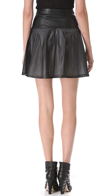 Ohne Titel Leather Mesh Skirt