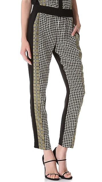 Ohne Titel Grid Print Pants