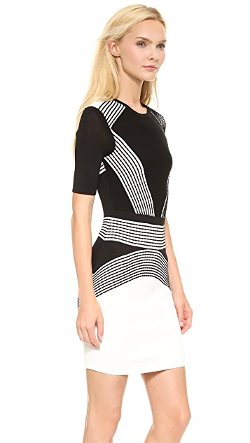 Ohne Titel Stripe Sleeved Dress