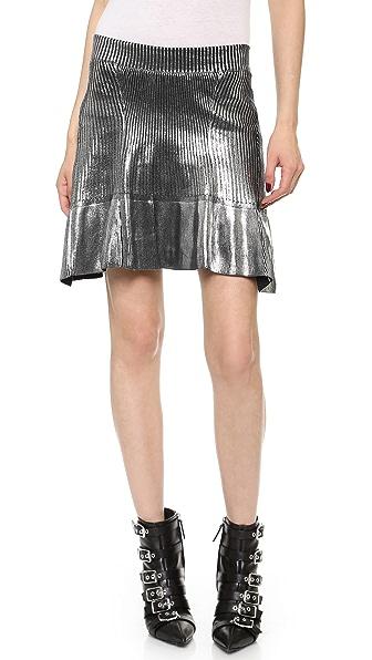 Ohne Titel Foil Knit Skirt