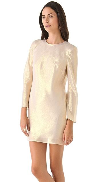 Olcay Gulsen Lurex Rose Gold Dress