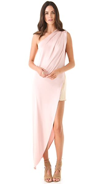 Olcay Gulsen One Shoulder Dress