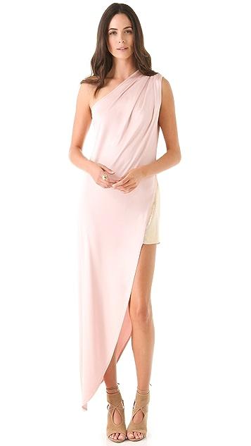 Olcay Gulsen One Shoulder Dress