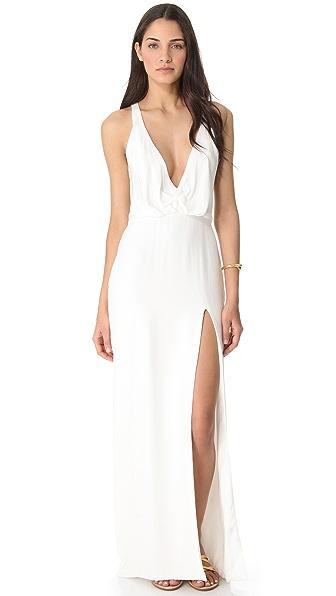 Olcay Gulsen Low V Neck Dress