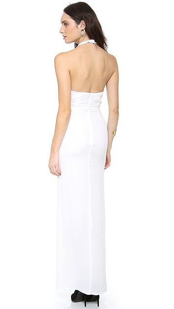 Olcay Gulsen Deep V Neck Gown