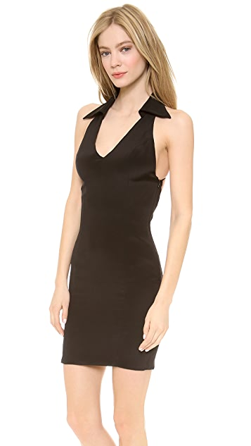 Olcay Gulsen Collar Dress with Strappy Back