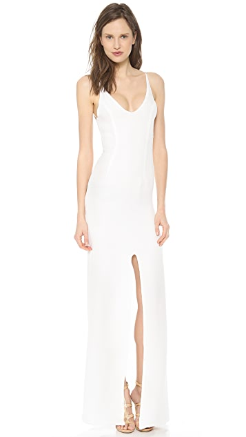 Olcay Gulsen Crossed Back Maxi Dress
