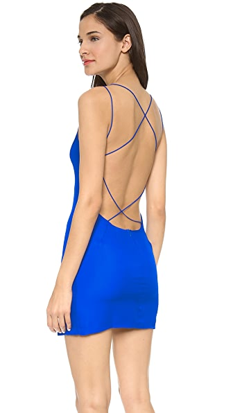 Olcay Gulsen Cross Back Mini Dress - Cobalt