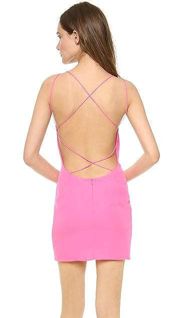 Olcay Gulsen Cross Back Mini Dress