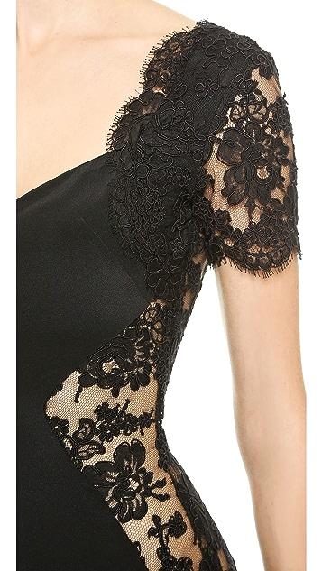 Olcay Gulsen Open Lace Dress