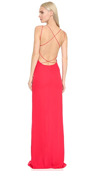 Olcay Gulsen Cross Back Maxi Dress