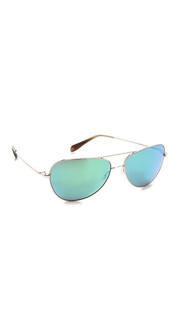 Oliver Peoples Eyewear Mirrored Pryce Sunglasses