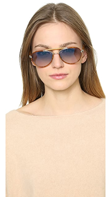 Oliver Peoples Eyewear Charter Mirrored Sunglasses