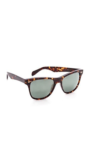 Oliver Peoples Eyewear Lou Polar Mirrored Sunglasses