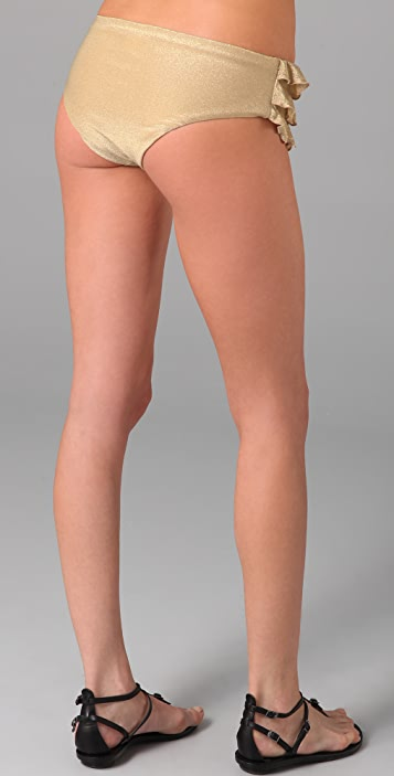 OndadeMar Solid Ruffle Bikini Bottoms