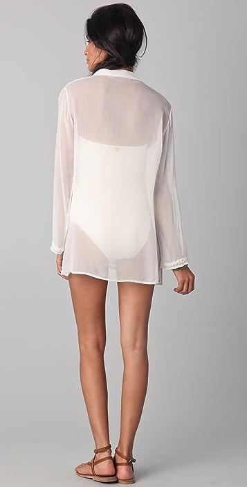 OndadeMar Riviera Sands Silk Georgette Cover Up