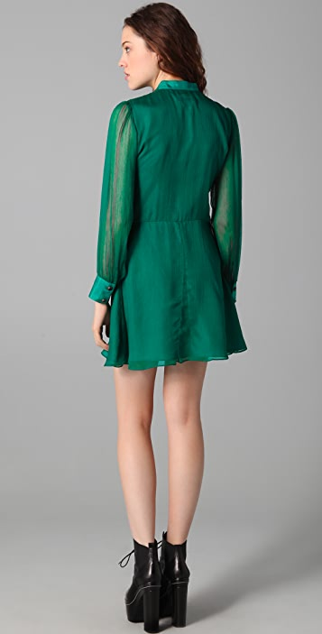 ONE by Charles Henry Short Button Front Dress