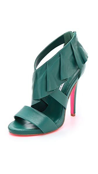 ONE by Suecomma Bonnie High Heel Ruffle Sandals
