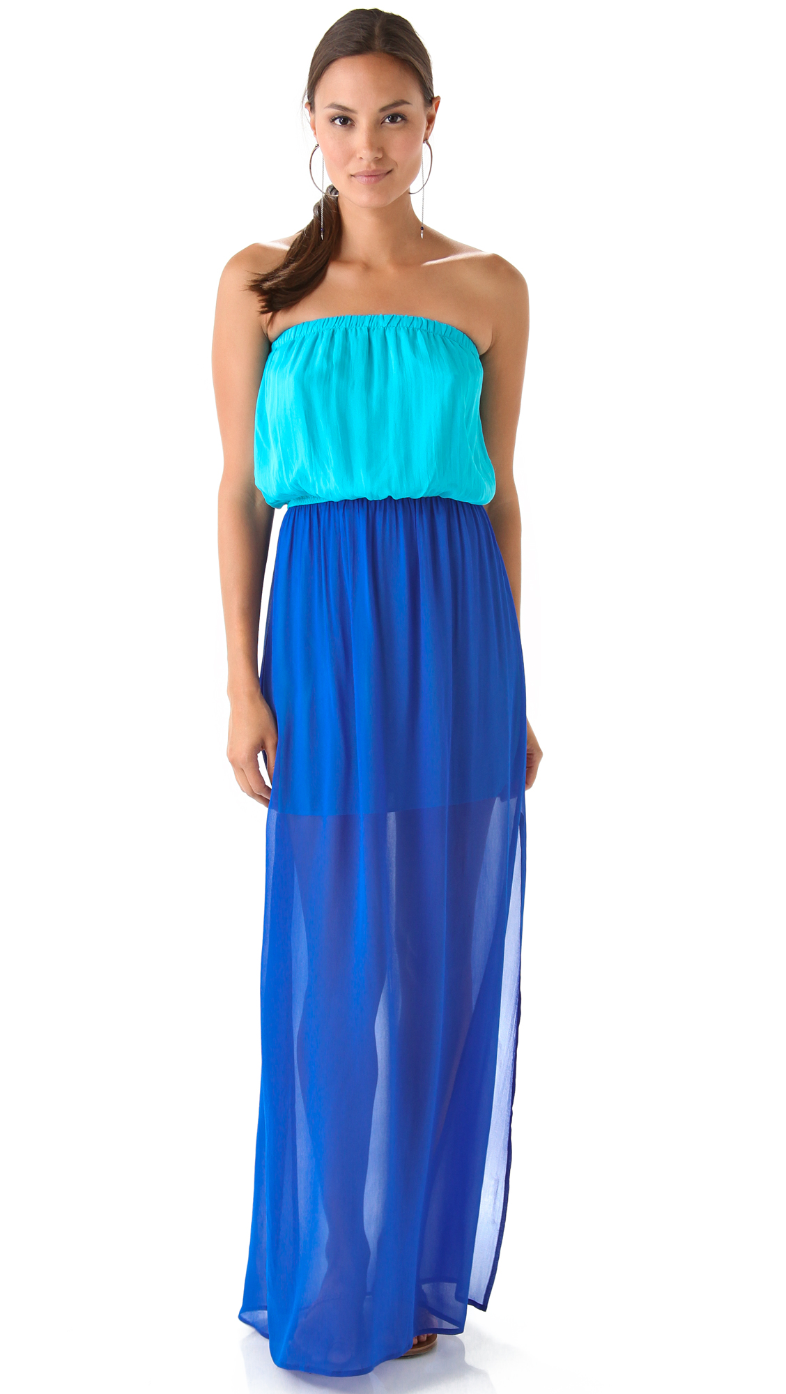 ONE by Chelsea Flower Colorblock Strapless Maxi Dress  SHOPBOP
