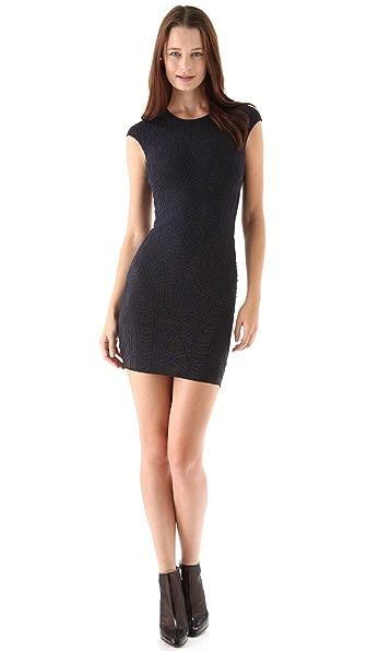 ONE by RVN Geo Textured Knit Mini Dress