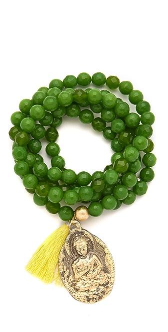ONE by Lead Bead Tassel Bracelet / Necklace