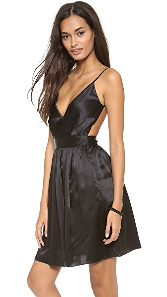 ONE by Contrarian Babs Bibb Mini Dress - Black