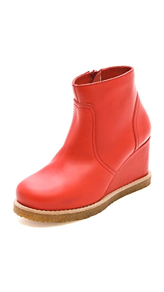 ONE by Swedish Hasbeens No Water Wedge Booties