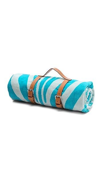 ONE by Maslin Zebra Hide Beach Towel