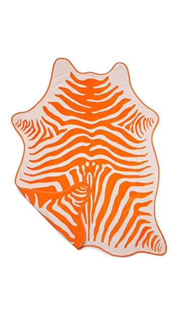 ONE by Maslin Zebra Hide Beach Towel