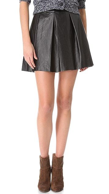 ONE by Boundary Vegan Imitation Leather Skirt