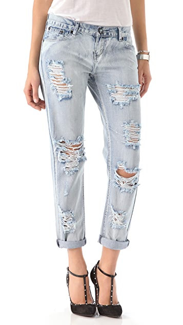 ONE by One Teaspoon Awesome Distressed Jeans