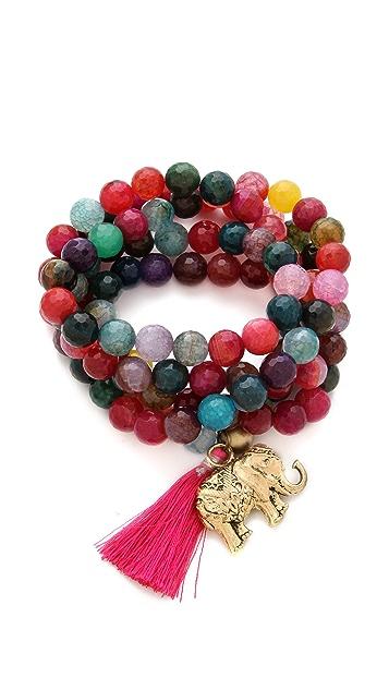 ONE by Lead Bead Tassel Necklace / Bracelet