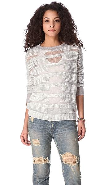 ONE by Duffy Sheer Stripe Sweater