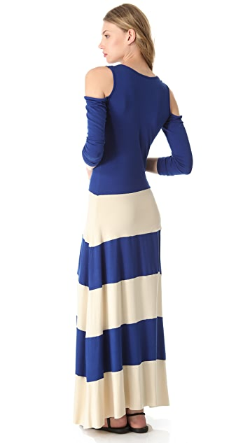 ONE by Karina Grimaldi Open Shoulder Maxi Dress