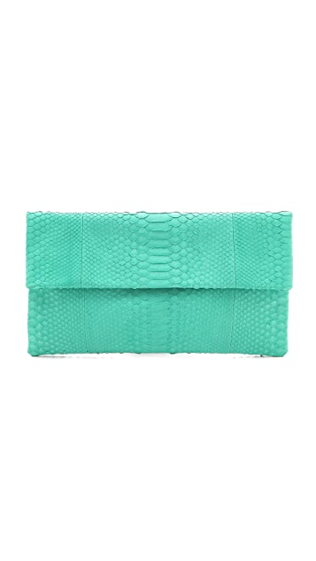 ONE by Primary Solid Python Clutch