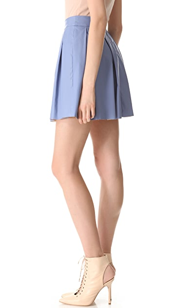 ONE by Boundary Vegan Leather Skirt