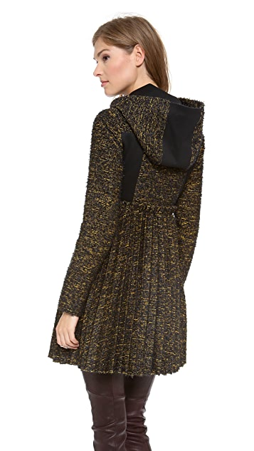 ONE by Emerson Tweed Pleated Coat