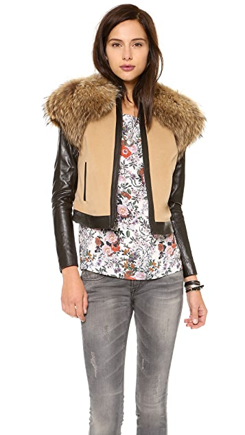ONE by Waldrip Fur Trim Jacket