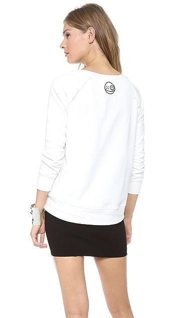 ONE by Mua Mua I Dont Give A Chic Raglan Sweatshirt