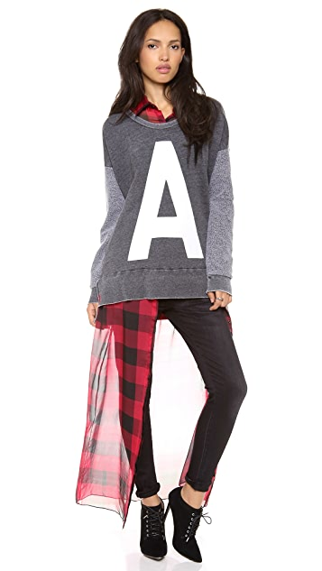 ONE by Rebel Yell Lettered Sweatshirt
