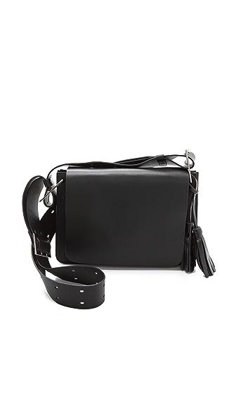 ONE by Modern Vice Sophia Buckled Accordion Shoulder Bag