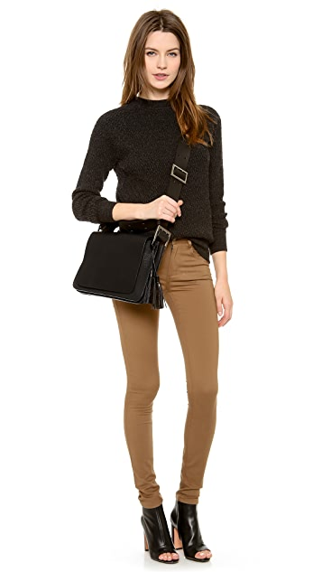 ONE by Modern Vice Sophia Buckled Accordion Shoulder Bag
