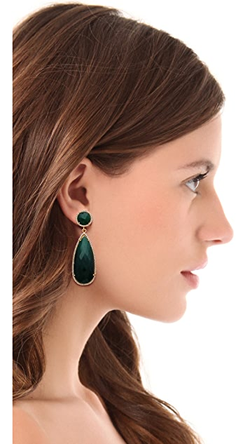 ONE by Susan Hanover Crown Stone Drop Earrings