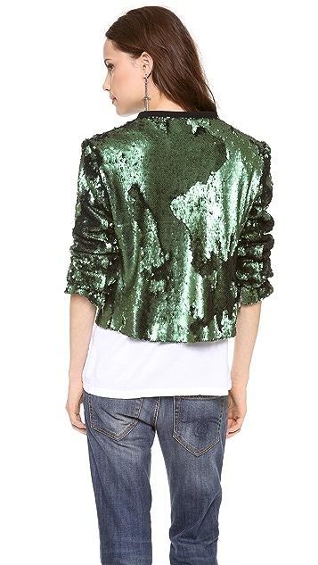 ONE by La Maison Glass Zippered Jacket