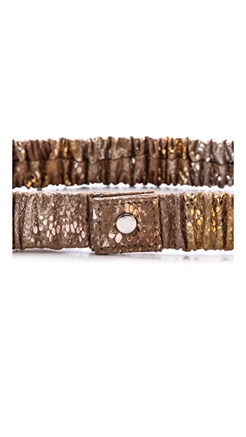 ONE by Deborah Drattell Floria Snap Stretch Belt