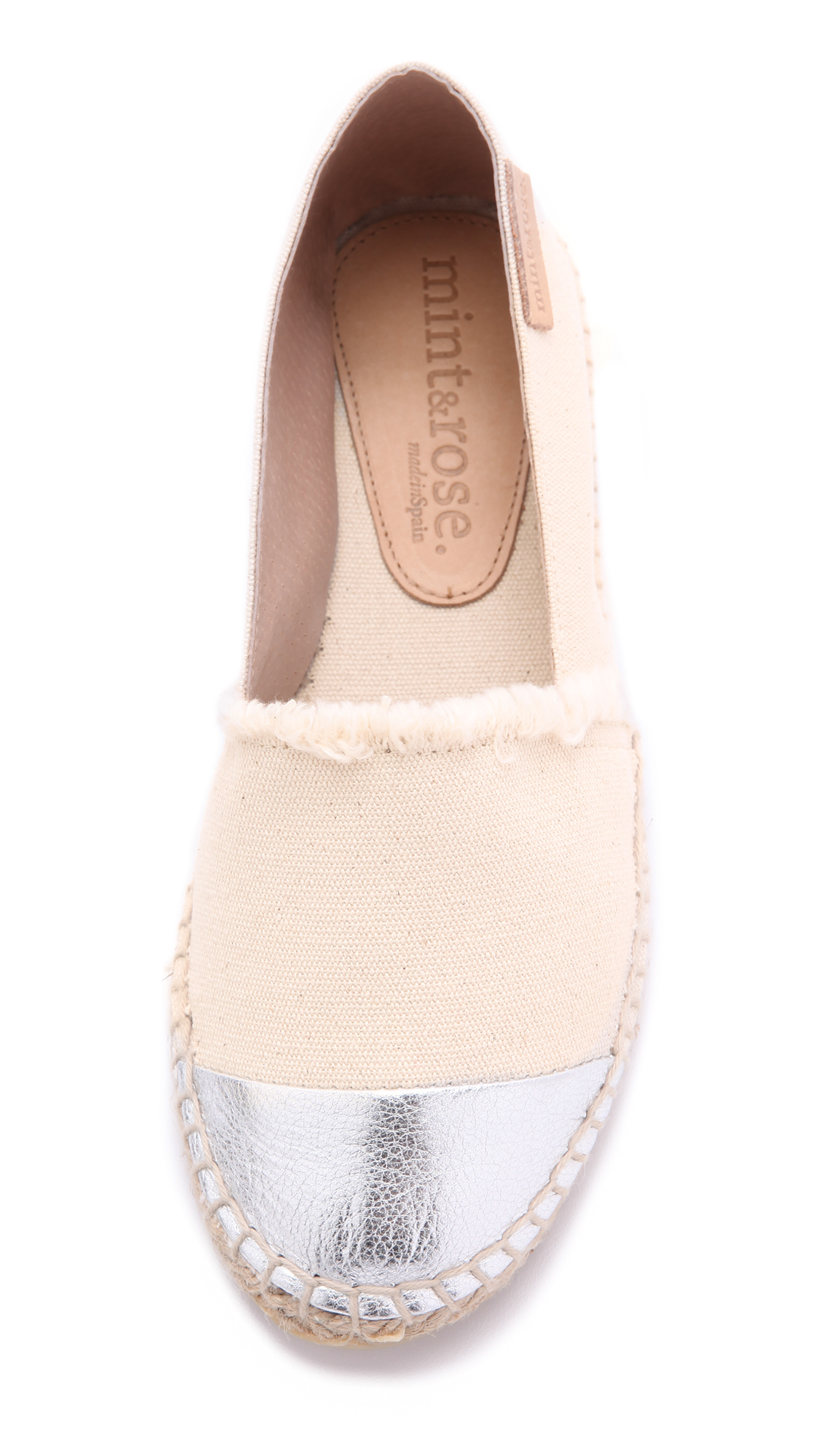 b1d3586d9eb ONE by mint   rose Amalfi Cap Toe Espadrilles