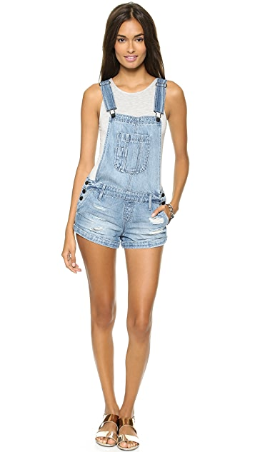 ONE by Black Orchid Solitaire Short Overalls