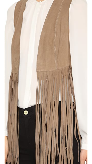 ONE by LAMARQUE Sonia Suede Fringe Vest