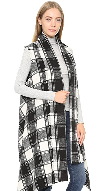ONE by Sheri Bodell Plaid Blanket Vest